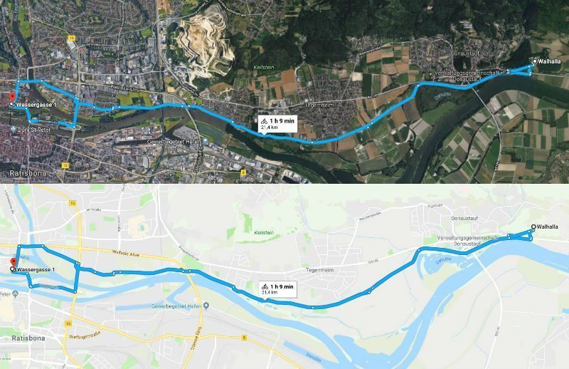 walhalla ruta bicicleta