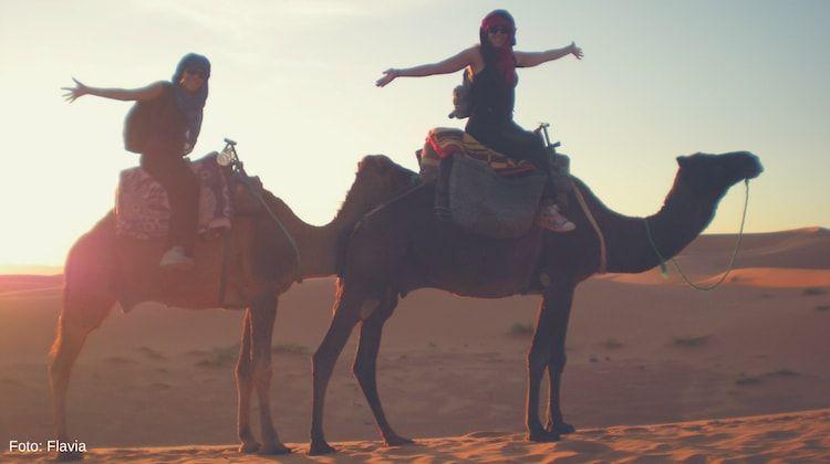 paseo en camello en merzouga marruecos sahara
