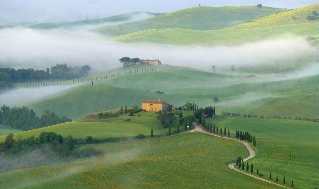 El valle d'Orcia de la Toscana italiana