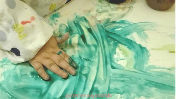 pintura dedos casera