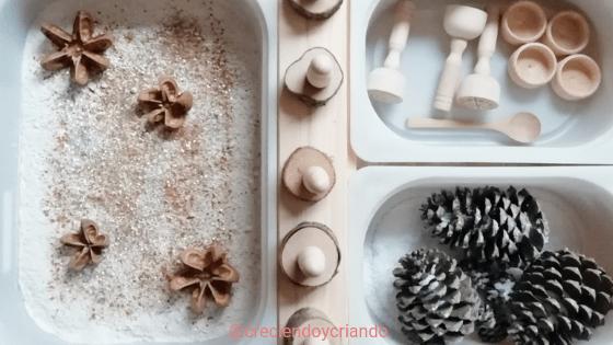 mesa experimentacion navidad