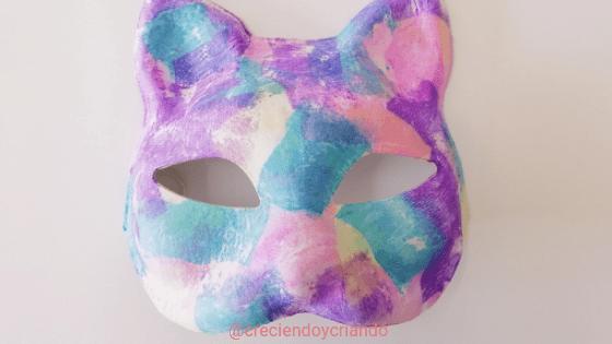 Máscara de Carnaval DIY_creciendo y criando