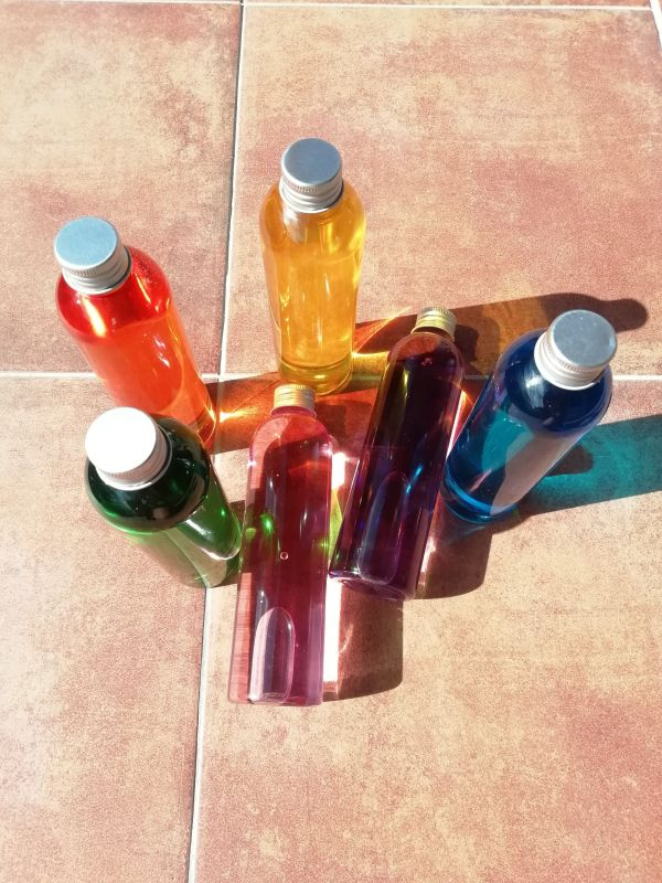 Botellas sensoriales Rainbow