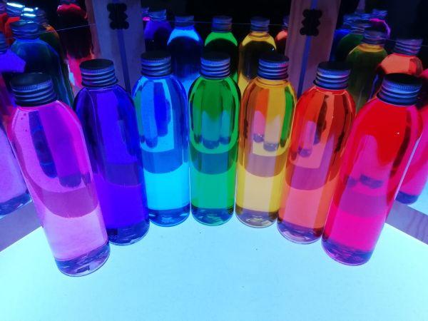 Botellas sensoriales Rainbow