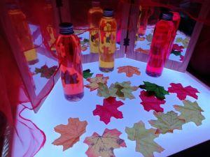 Hojas de otoño artificiales