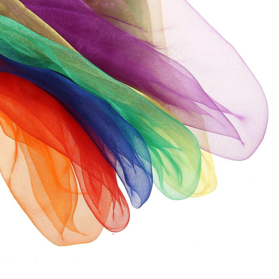 pañuelos de seda arcoiris _ creciendo y Criando