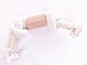 Mordedor natural de madera y cuerda