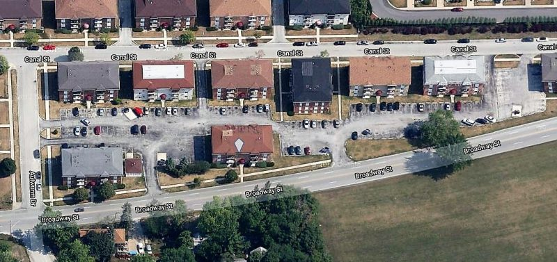 Aerial 84 Unit Multifamily Property For Sale 1900 Broadway St Blue Island IL