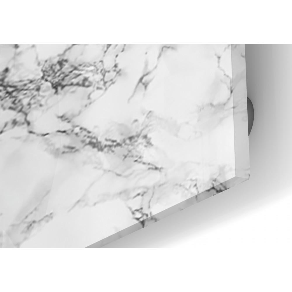 fond de hotte effet marbre blanc