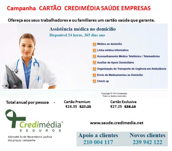 cartão saúde Credimédia Empresas