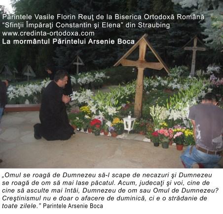 Parintele Vasile Florin Reut: La mormantul Parintelui Arsenie Boca: Momente de rugaciune, liniste si bucurie duhovniceasca.