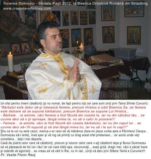 Sfat pentru tinerii casatoriti * Parintele Vasile Florin Reut * www.credinta-ortodoxa.com