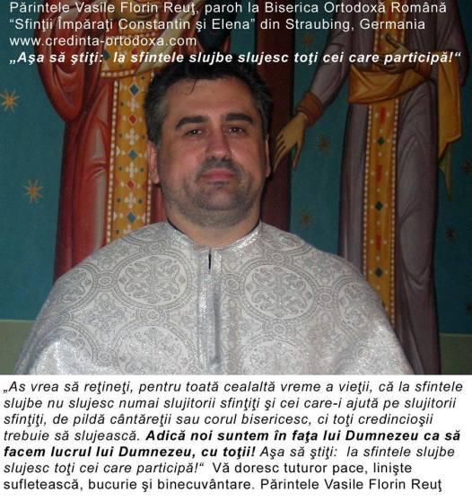 Asa sa stiti: la sfintele slujbe slujesc toti cei care participa! * www.credinta-ortodoxa.com