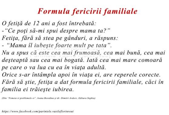 Formula fericirii familiale * www.credinta-ortodoxa.com