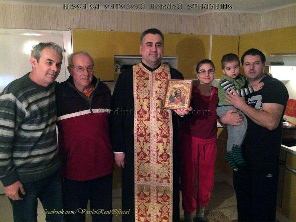 Bucuria de a păstra Credinţa şi Tradiţia Strămoşească: În vizită pastorală cu Icoana Naşterii Domnului la o familie de credincioşi din Austria
