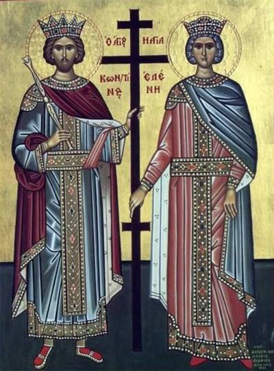 Sfinţii Împăraţi, întocmai cu Apostolii, Constantin şi Elena