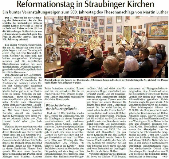 Beeindruckend die Ikonen der Rumänisch-Orthodoxen Gemeinde, die in der Friedhofskapelle St. Michael von Pfarrer Vasile Florin Reut erläutert wurden.