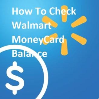 Walmart MoneyCard Balance
