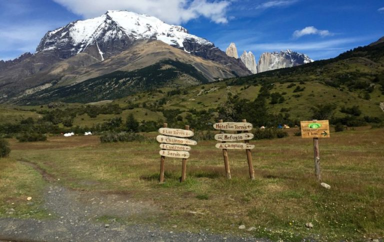 Torres del Paine National Park trailhead