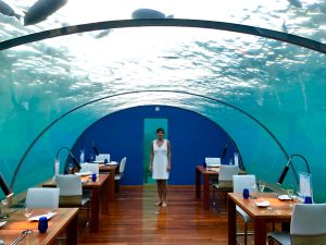 Dinner at Ithaa Undersea Restaurant at the Conrad Maldives