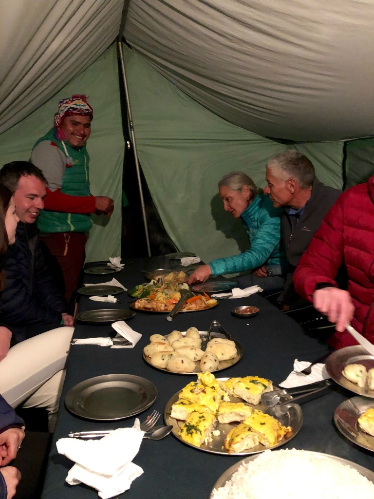 Dinner from Alpaca Expeditions