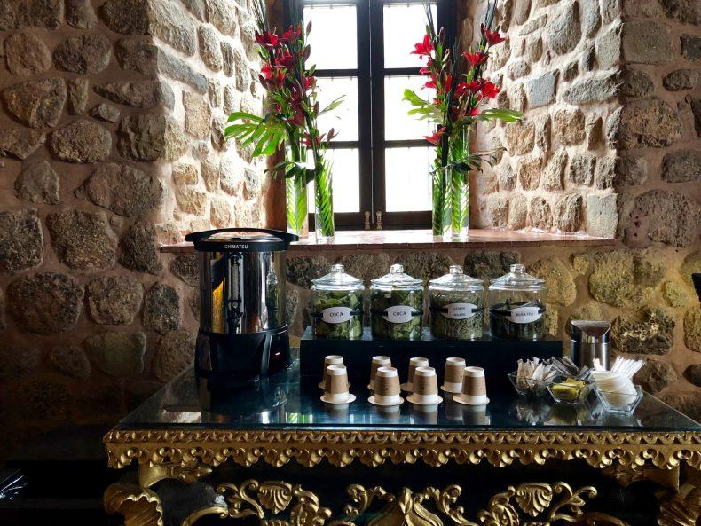 Tea Station at the JW Marriott Cusco