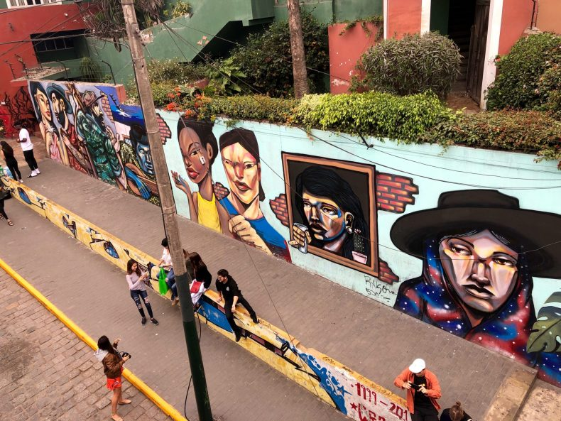 Street art in Barranco, Lima
