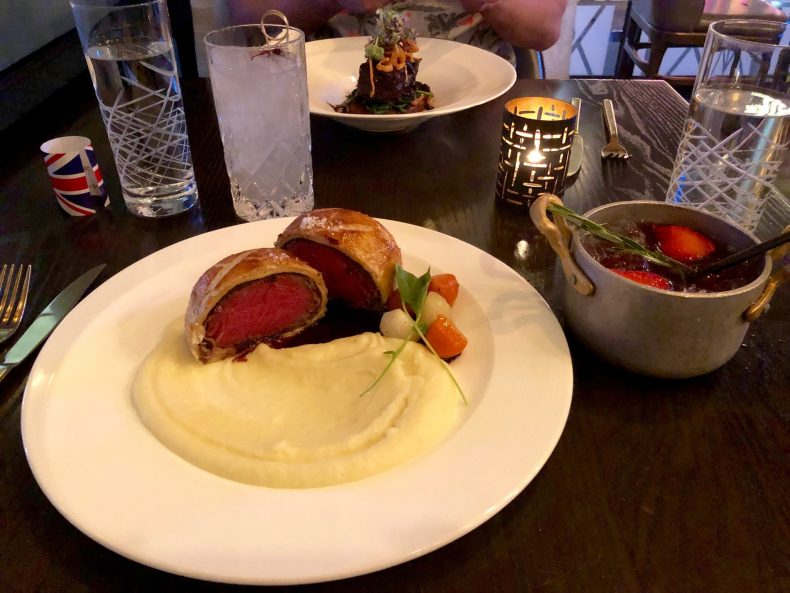 Beef Wellington at Hell's Kitchen