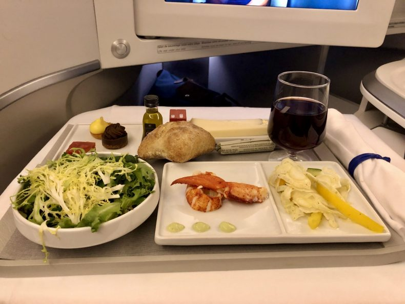 Air France 777 Business Class Dinner Appetizer