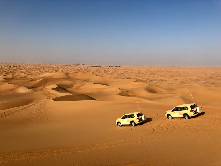 Dune bashing at Al Maha