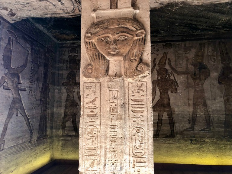 Inside the Small Temple at Abu Simbel