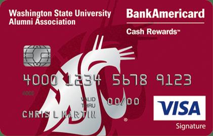 Washington State University Credit Card BoA