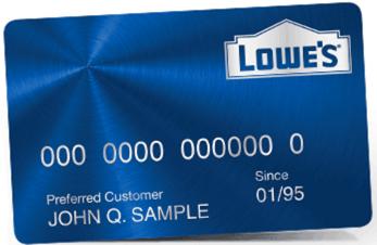 Www lowes Kreditkarte