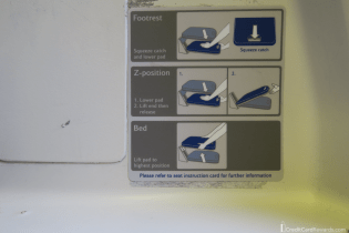 British Airways Business Class Footrest Instructions