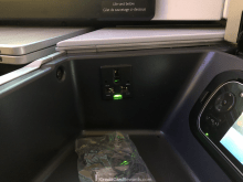 Air Canada Business Class Power & USB Outlet