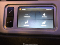 Air Canada Business Class Seat & Lighting Controls