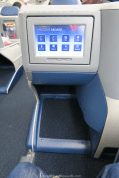 Delta One 767 Business Class Footrest and Video Screen