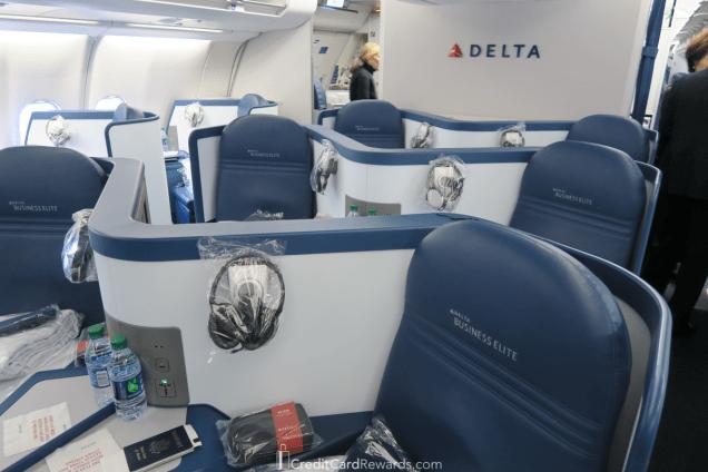 Delta One A330 Business Class - pretty standard reverse herringbone seats
