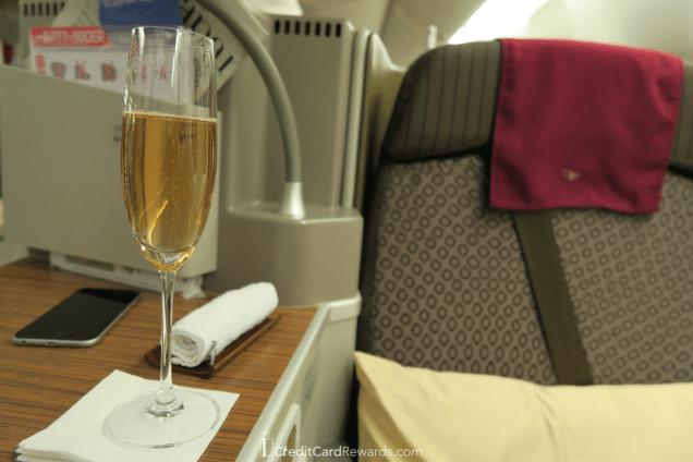 Garuda Indonesia Business Class Predeparture Champagne