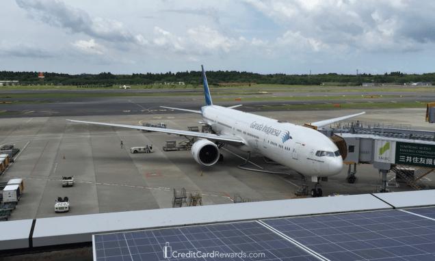Garuda Indonesia 777-300ER @ gate in Tokyo Narita