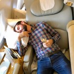 Sleeping in Emirates First Class Suites