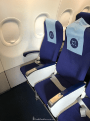 IndiGo Airlines XL seats in row 1 (less legroom than rows 12 and 13)