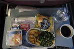 LATAM 767 economy breakfast meal