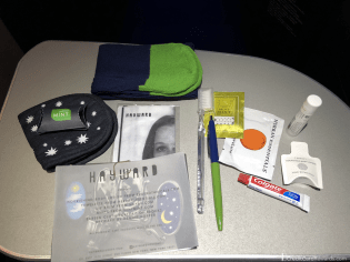 JetBlue Mint Amenity Kit Contents