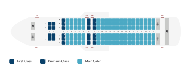 alaska airlines a320 seat map pre-retrofit