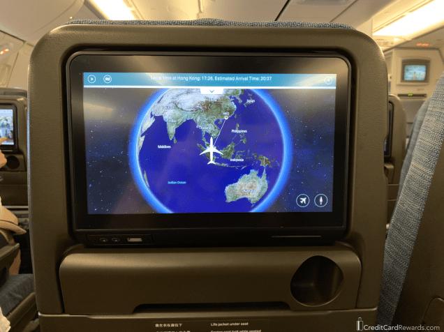 Cathay Pacific Economy IFE Screen