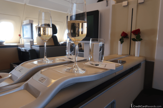 Lufthansa First Class Ore-Departure Champagne