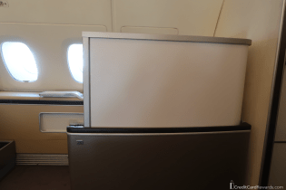 Lufthansa First Class Seat with Privacy Screen Up