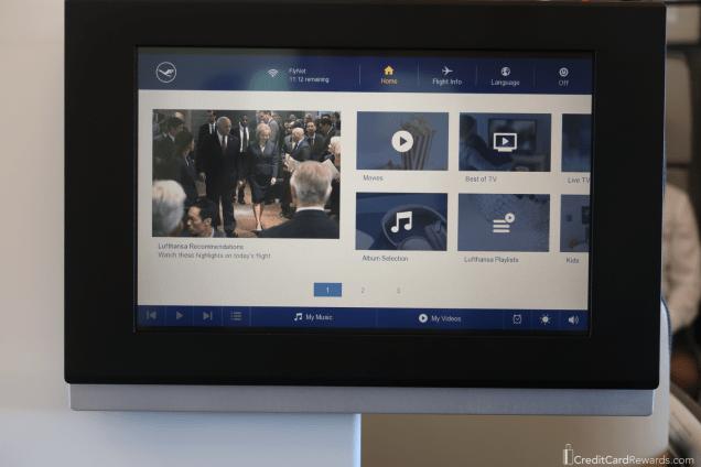 Lufthansa First Class Video Screen