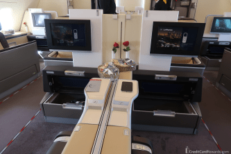 Lufthansa First Class Middle Seat